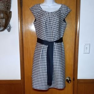 Carolina Herrera Dress Black White Houndstooth